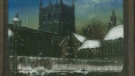 Artwork of Royston's parish church from Melbourn Street circa 1890. Picture: Royston & District Muse