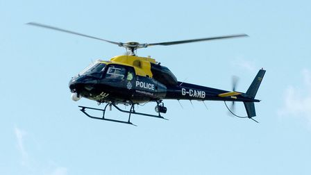 A police helicopter was out in St Neots last night (Sunday) to aid police with the search of a missi
