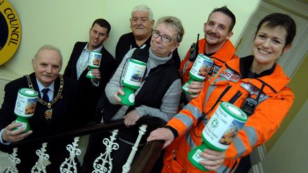 Magpas volunteer and former town mayor Derek Allgood, third from left. Picture: ARCHANT