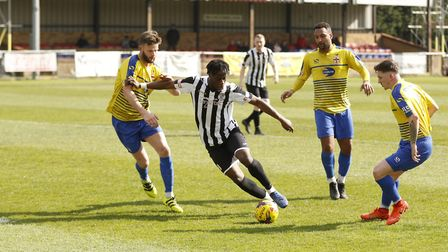 Andrew Osei-Bonsu hit the only goal as St Ives Town beat Rddeitch. Picture: LOUISE THOMPSON