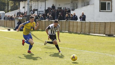 Tom Wood of St Ives Town during their victory against Redditch. Picture: LOUISE THOMPSON