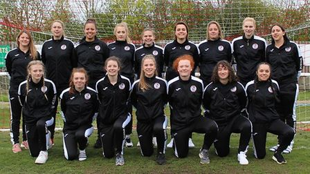 t Ives Town Ladies Development pictured ahead of their final are back row, left to right, Steph Rans