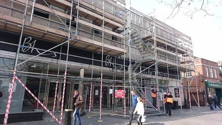 Work has begun to demolish BHS in St Peter's Street, St Albans. Picture: Anne Suslak