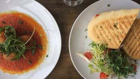 Aranchini and panini from Smallford café and farm shop. Picture: Becky Alexander