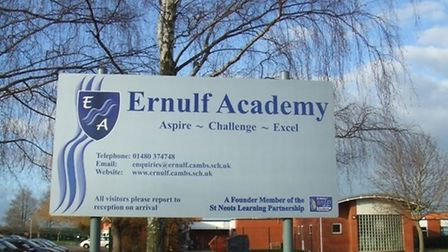 Two members of staff have been injured by pupils in recent months at Ernulf Academy in St Neots
