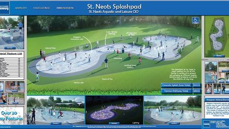An image of what the splash pad could look like