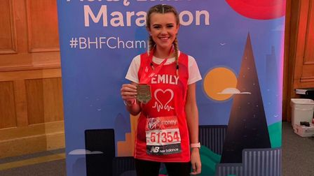 Emily Hickey-Mason from St Albans ran the London Marathon in under four hours. Picture: British Hear