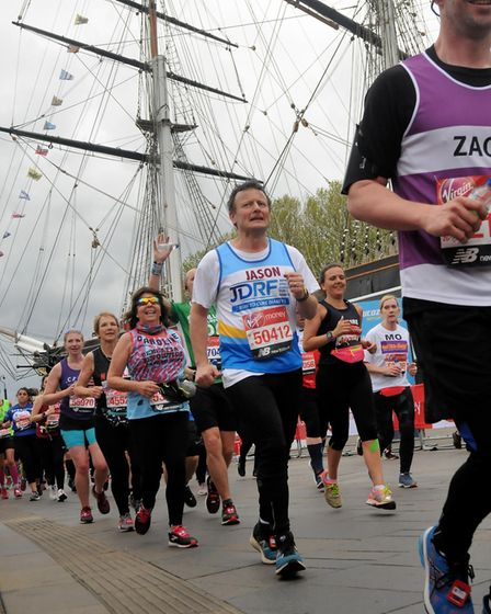 Jason Wills ran the Virgin Money London Marathon in aid of JDRF, after being inspired by his daughte