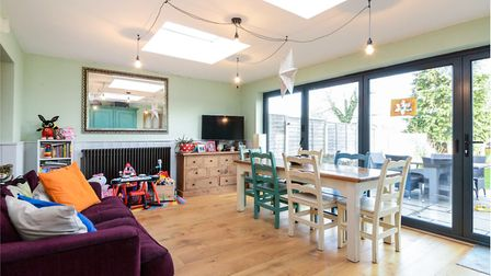The kitchen/diner opens out onto the rear garden. Picture: William H Brown