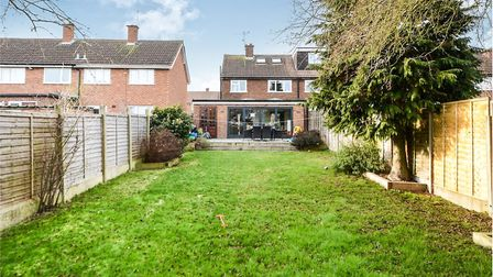 There is a spacious garden to the rear of the property. Picture: William H Brown