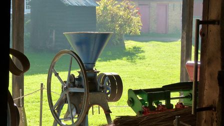 Victorian farm equipment at the Heritage Park at Pitstone Green Museum.