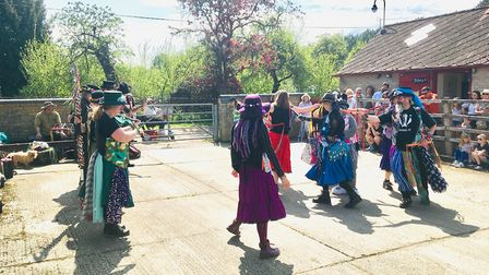 Morris dancers at the Heritage Park at Pitstone Green Museum