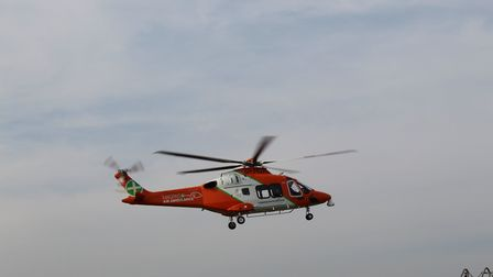The new air ambulance in flight