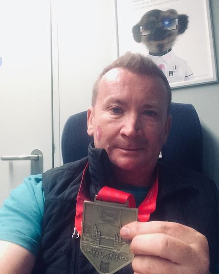 Craig McMurrough with his medal. Picture: Courtesy of Craig McMurrough
