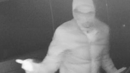 Beds Police have released this image of a man they would like to speak to in relation to keyless car