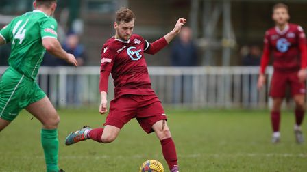 Dave Keenleyside in action for Welwyn Garden City. Picture: DANNY LOO