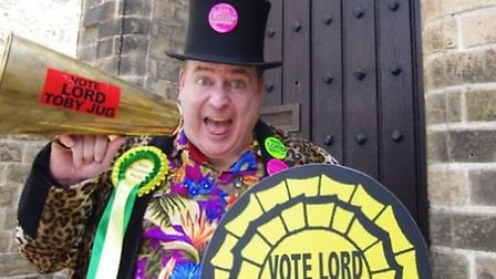 The Toby Jug canvassing for votes in St Ives