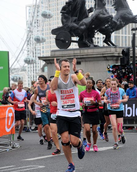 Chris Steele was the only charity representative for Bede House. Picture: MarathonFoto