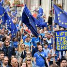 Anti-Brexit campaigners fighting for the UK to remain in the European Union. (Photo by Kate Green/An