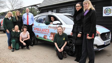 The presentation of the new MG at Shepreth Hedgehog Hospital. Picture: Clive Porter