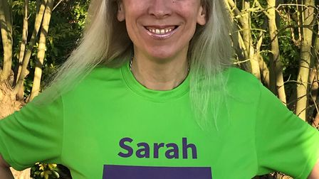 Sarah Miller, taking part in this year's London Marathon as part of a team of 10 supporting the disa
