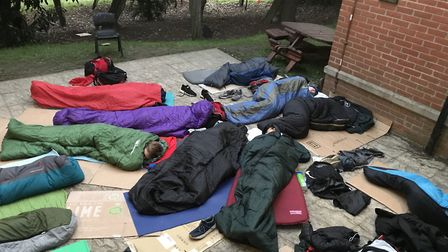 St Albans' St Columba's College raised £3,000 with an annual Homeless Sleepout. Picture: St Columba'