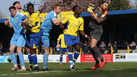 Clovis Kamdjo in action for St Albans City against East Thurrock United. Picture: JIM STANDEN