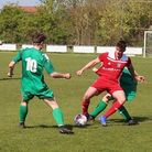 Action from Godmanchester Rovers clash with Gorleston (pic Imogen Goult)