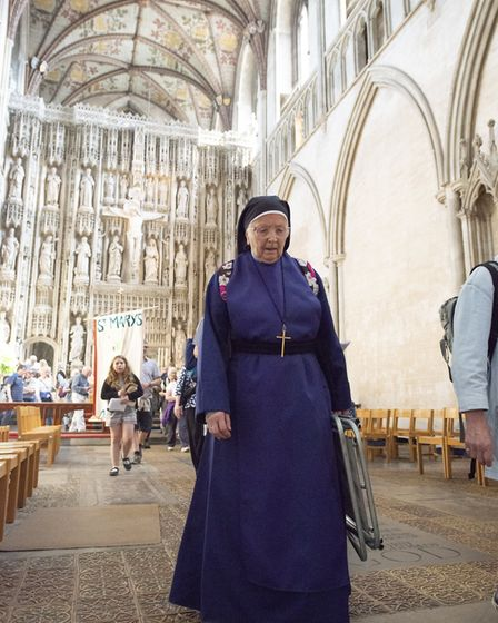 The Easter Monday Pilgrimage at St Albans Cathedral. Picture: Arun Kataria