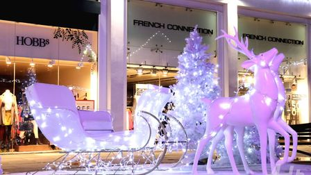The Christmas display at Christopher Place Shopping Centre which was destroyed by Joshua Clarke.