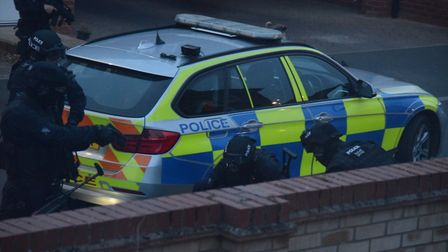 The raid in St Neots PICTURE: Peter Kellythorn
