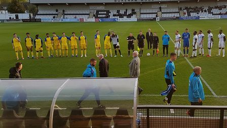 St Albans City travelled to Boreham Wood for the final of the Herts Senior Cup.