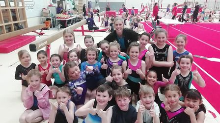 Royston Gymnasts took part in the Stevenage Sports Acrobatics Leadership Academy competition