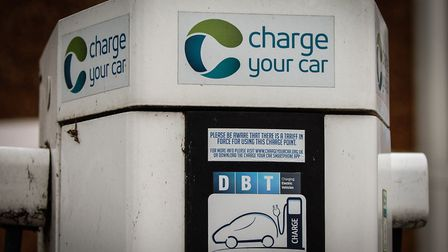 File picture of an electric car charging point. Picture: Chris Bishop