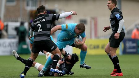 Worcester's Jack Singleton in action during the Gallagher Premiership match in March at Newcastle Fa