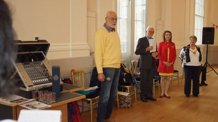 Wormser Kantorei chairman Hubert Listmann at the civic reception at St Albans Museum + Gallery. Pict