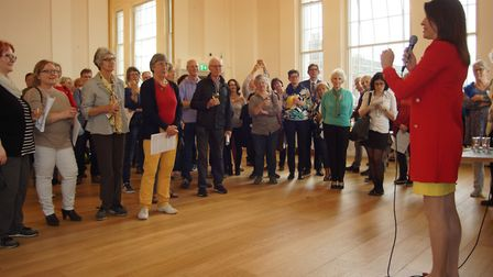 Cllr Annie Brewster at the civic reception at St Albans Museum + Gallery to welcome the Wormser Kant