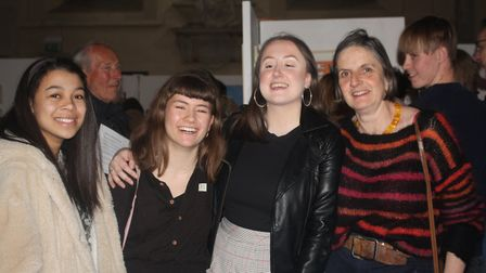 Oaklands College student Esther Harbord (second from left) was awarded first place at the St Albans