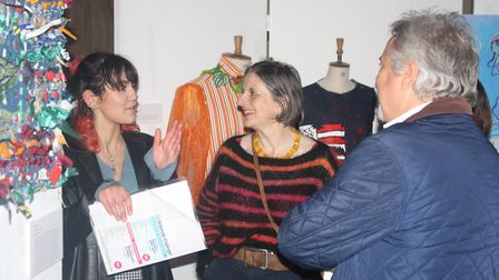 Oaklands College students showcased their work in an art exhibition at St Albans Cathedral. Picture: