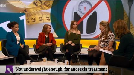 Hannah Robinson, from St Neots, spoke on the Victoria Derbyshire show on Wednesday to discuss eating