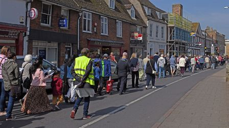 The Walk of Witness took place through Huntingdon. Picture: ARCHANT