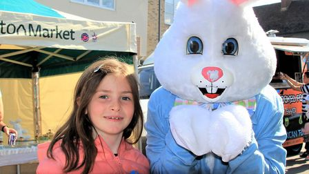 The Easter Bunny was on hand to help at the event in Royston. Picture: Clive Porter