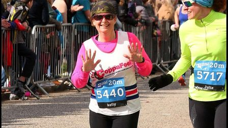 Kelly Durbridge who is running the London Marathon for Bernard's Heath School PTA.