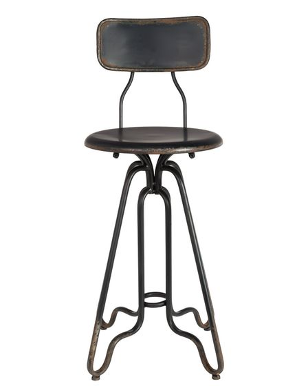 Dutchbone Ovid Distressed Iron Counter Stool from Cuckooland. www.cuckooland.com, 119. Picture: www.