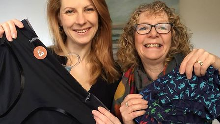Jane Wallington from Bassingbourn and Christine Brown from Royston are collecting underwear for Smal