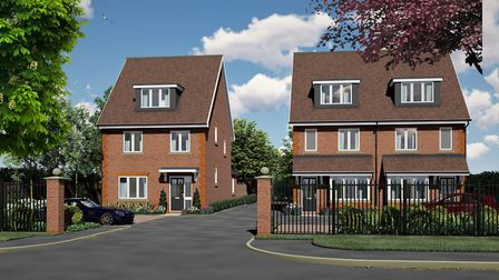 These modern houses for sale in St. Albans are available via Osprey Homes.