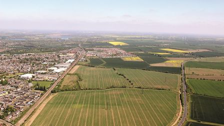 An aerial shot of the Wintringham Park site. Picture: GEOFF SODEN