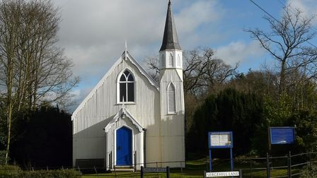 Bedmond's famous tin church, also known as the Church of the Ascension, was opened in 1880. Picture: