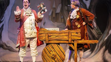 Another spurious comedy routine involving Bob Golding and Ian Kirkby in pantomime Cinderella at The