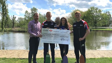 Cambridgeshire Royals Dragon Boat team, winners of the £1,000 Skip of Gold competition. Picture: CON